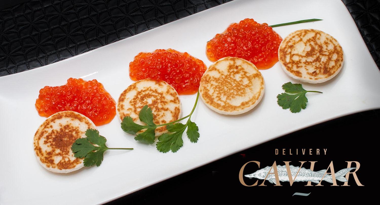 red caviar salmon