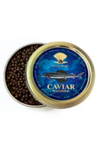 "3.5 oz /100 g Premium Quality Russian Sturgeon Black Caviar ""Malosol"""